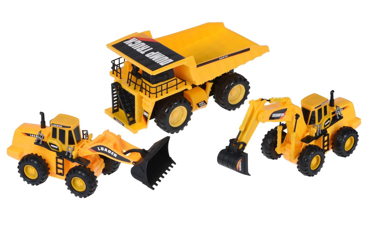 Набір машинок Same Toy Truck Series Кар'єрна техніка (R1804Ut)