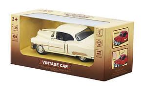 Машинка Same Toy 1:36 Vintage Car Бежевый (601-4Ut-1), фото 3