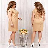 Платье летнее приталенное из льна декор пуговицы на спине, разные цвета, р.48,50,52,54 Код 808Ю, фото 2