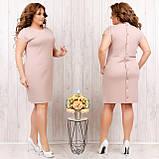 Платье летнее приталенное из льна декор пуговицы на спине, разные цвета, р.48,50,52,54 Код 808Ю, фото 3