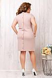 Платье летнее приталенное из льна декор пуговицы на спине, разные цвета, р.48,50,52,54 Код 808Ю, фото 6