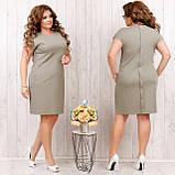 Платье летнее приталенное из льна декор пуговицы на спине, разные цвета, р.48,50,52,54 Код 808Ю, фото 8