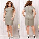 Платье летнее приталенное из льна декор пуговицы на спине, разные цвета, р.48,50,52,54 Код 808Ю, фото 7