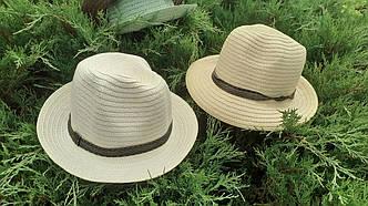 Шляпа Федора из рисовой соломки
