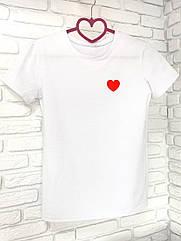 Футболка Inrtuder с принтом Сердце XL Белая 1590656555  4, КОД: 1814963