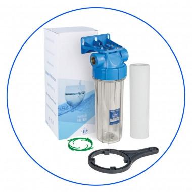 """Корпус фильтра для холодной воды 10"""", резьба 3/4"""", рабочее давление 6 бар Aquafilter FHPR34-B1-AQ"""