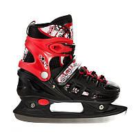 Коньки раздвижные Scale Sports 38-41 Черный с красным 797917286-L, КОД: 1197911