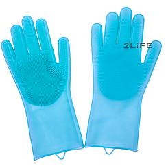 Перчатки силиконовые многофункциональные уборка, чистка, мытье посуды, ухваты 2Life Голубой n-528, КОД: 1680510