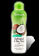 Шампунь для кошек Tropiclean Oatmeal Tea 592 мл 202467, КОД: 1572729