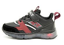 Светящиеся кроссовки CBT.T 26 16 см Черный B5929-2 black-red 26 16 см, КОД: 1525032