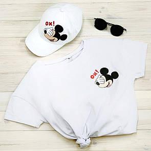 "Комплект Белый Кепка+ футболка ""Микки"""