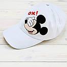 """Комплект Білий Кепка+ футболка """"Міккі"""", фото 3"""