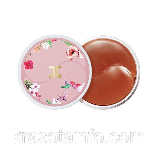 Гидрогелевые патчи под глаза с цветами гибискуса Jayjun Roselle Tea Eye gel Patches Корея 60 шт