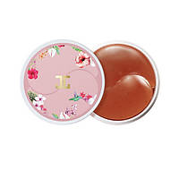 Гидрогелевые патчи под глаза с цветами гибискуса Jayjun Roselle Tea Eye gel Patches Корея 60 шт, фото 1