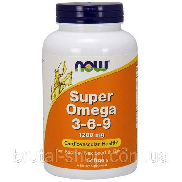Супер Омега 3 6 9, NOW Foods Super Omega 3-6-9 1200mg (90softgels)