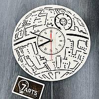Настенные часы ручной работы из дерева 7Arts Звезда смерти CL-0104, КОД: 1474367