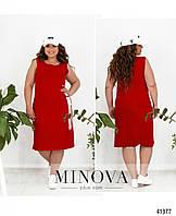 Красивое удобное спортивное летнее платье батал прямого кроя без рукавов Р-р 50,52,54,56,58,60