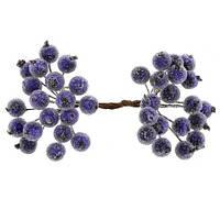 Цукрові ягідки фіолетові 12 мм пучок 20 шт (40 ягідок)