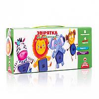 Игра с пуговицами Vladi Toys Зверушки для самых маленьких VT2905-12 укр, КОД: 1331771