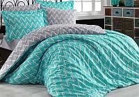 Комплект постельного белья Hobby 4843 Евро Поплин 200х220 см Голубой psgSA-4843, КОД: 944771