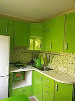Кухня на заказ Пластик в алюминиевой рамке