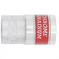 Головка торцевая МТХ 16 мм шестигранная CrV под квадрат 1 2 хромированная 131169, КОД: 1696100