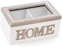 Коробка Bona Home 2-х секционная для чая и сахара 16.5 x 11 x 8 см Белый psgBD-493-708, КОД: 1033917