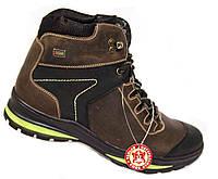 """Зимние мужские ботинки """"Mida"""". Натуральная шерсть. Коричневые"""