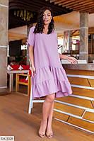 Удобное летнее повседневное женское платье свободного кроя арт. 378