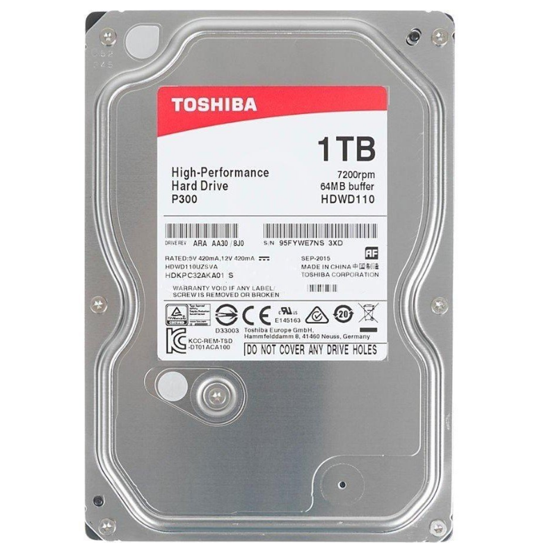 Купить Жесткий диск 3.5 SATA 1Tb Toshiba P300 (HDWD110UZSVA)