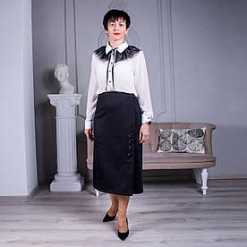 Женская юбка больших размеров Анна черная