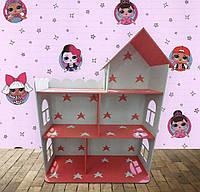 Кукольный домик Барби 110 см Розово-белый gzj6xk, КОД: 1673568