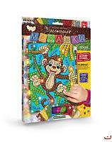 Набор для творчества Dankotoys Блестящая мозаика Обезьянка БМ-02-03, КОД: 1658340