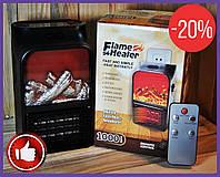 Электрокамин с екраном Flame Heater 1000w с пультом