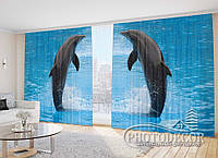 """Фото Шторы """"Два дельфина 2"""""""
