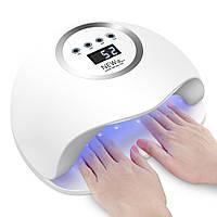 Лампа для сушки гель-лака для двух рук NEW 5 Plus 72W UV LED Белый, КОД: 1141538