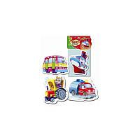 Беби пазлы Vladi Toys 12 элементов Машины-помощники VT1106-78, КОД: 1317784