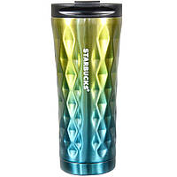 Термокружка Starbucks Diamond Style 500 мл Желтая Бирюзовая 101200YL, КОД: 1387987