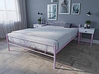Кровать MELBI Лара Люкс Двуспальная 140х190 см Розовый, КОД: 1389170