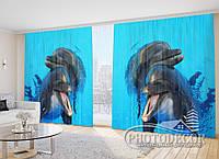 """Фото Шторы """"Два дельфина"""""""
