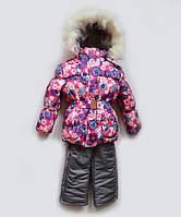 """Детский зимний костюм фиолетовый  """"Цветочки"""", фото 1"""