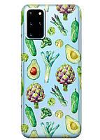 Прозрачный силиконовый чехол iSwag для Samsung Galaxy S20 Plus Полезная еда M1126, КОД: 1604809