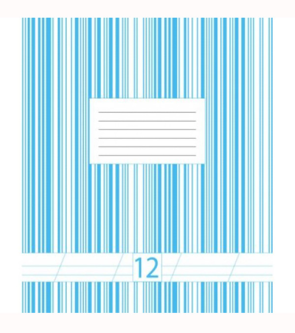 Набор тетрадей фоновых 10 штук Офорт двухцветная 12 листов косая линия  5В212С-БН