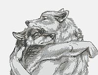 Вовчі обійми(монохром на білому). Схема повної зашиття бісером