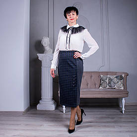 Женская юбка больших размеров Анна серая