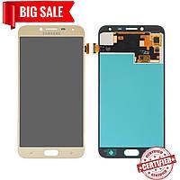 Модуль (дисплей + сенсор) для Samsung J400F Galaxy J4 OLED золотой