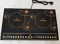 Индукционная плита Crownberg CB-1328 (две конфорки по 2000 Вт)