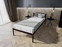 Кровать MELBI Лаура Односпальная 90х190 см Бордовый лак, КОД: 1389071