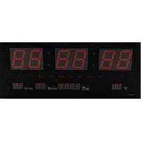 Часы настенные Kronos LED Number Clock 3615 Черные gr008427, КОД: 1143379