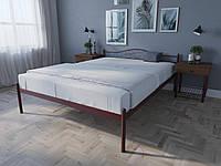 Кровать MELBI Лара Двуспальная 160х200 см Бордовый лак, КОД: 1390071